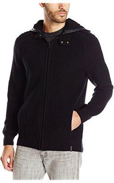Calvin Klein Jeans Men's Faux Sherpa Hoodie Sweater, Black, Medium ❤ Calvin Klein Jeans Men's Collection