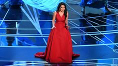 AULI'I CRAVALHO FROM 'MOANA' KEEPS COMPOSURE AFTER BEING HIT BY BLUE FLAG DURING OSCARS PERFORMANCE - Sunday, February 26, 2017 - Auli'i Cravalho was still elegant and glamorous, even after the flag incident.