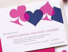 Vegas Wedding Invitation Sample  Chic Vegas by laurenchismpaper, $5.00