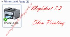 Meghdoot Epson LX 300+/II Slow Printing @ Windows 7/2008 | PO TOOLS
