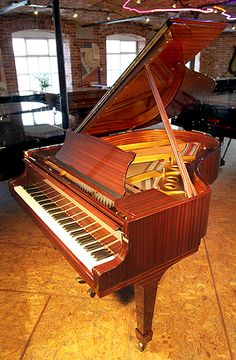 A 1978, Steinway Model O grand piano with a mahogany case and spade legs at Besbrode Pianos £37,500