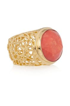Love the filigree detail on the sides. (Isharya Gold-plated resin ring on The Outnet)