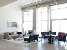":: Havens South Designs :: loves this two bedroom loft at Nashville's ""The Icon"" building. Design by stylist Annette Joseph for Gwyneth Platrow."