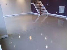 Basement ideas Keller Epoxidboden Design-Ideen, Bilder, Umbau und Dekor The Courage to Be a Loving P Basement Flooring Waterproof, Concrete Basement Floors, Painting Basement Floors, Best Flooring For Basement, Cozy Basement, Painted Concrete Floors, Modern Basement, Basement Laundry, Basement Makeover