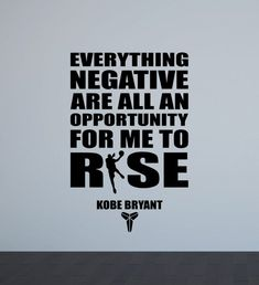 Kobe Bryant Quote Wall Decal Poster Basketball Player Gifts Motivational Sign Gym Print Vinyl Sticker Home Fitness Decor Sport Wall Art Kobe Quotes, Kobe Bryant Quotes, Quote Wall, Kobe Bryant Tattoos, Athlete Quotes, Athlete Motivation, Quotes Motivation, Champion Quotes, Basketball Players