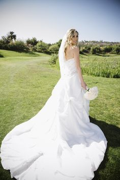 Wedding dress with a beautiful train! #weddingdress #weddinggown #bride