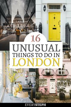 Trips to lavender fields, tours led by ex-homeless guides and secret parties: there is no shortage of things to do in London off the beaten path. And what about a museum of cans or a container city? Check out this extensive list of 16 unusual things to do Europe Destinations, Europe Travel Tips, Traveling Tips, Travel Goals, Holiday Destinations, Budget Travel, Italy Travel, Travel Guide, Instagram Inspiration
