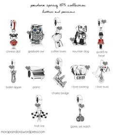pandora spring 2015 hobbies charms