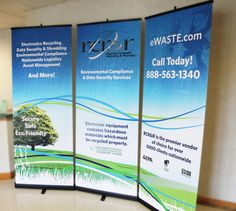 Check out the trade show banner we designed for RCRR. 2 thumbs up for going green! You can check out more of our photos at our Flickr account. - fluid design for 3 banners