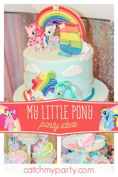 Check Out This Magical My Little Pony Birthday Party Love The Cake See