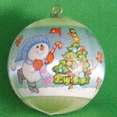 """1980 Hallmark Keepsake Satin Ornament, """"Grandson"""" - Still In Box"""