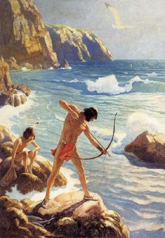 The First Maine Fisherman NC Wyeth Open picture USA Oil Painting Reproductions Jamie Wyeth, Andrew Wyeth, Nc Wyeth, Howard Pyle, American Artists, Art History, Maine, Canvas Prints, Fine Art