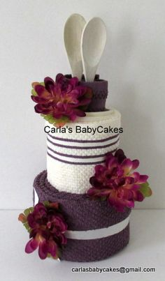 Elegantly Simple Kitchen Towel Cake - Perfect for bridal showers or housewarming gift (especially for first apartments)