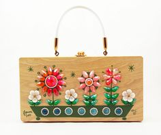 "Enid Collins of Texas ""Flower Box"" Box Bag by niwotARTgallery on Etsy, SOLD"