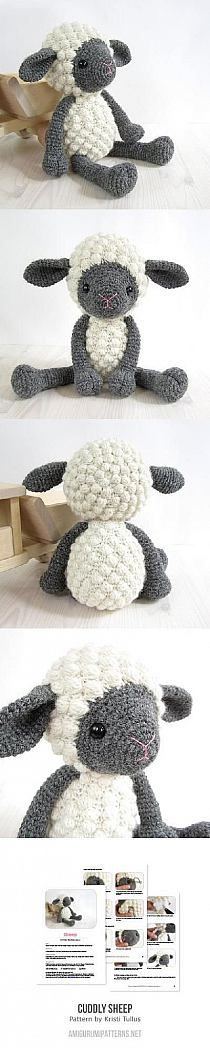 Crochet Dolls Patterns Crochet Sheep Amigurumi - find lots of free patterns in our post - You will love this Crochet Bobble Stitch Pillow plus all the other cute Crochet Bobble Sheep Free Patterns that we have included. Pin your favourites. Crochet Diy, Crochet Amigurumi, Amigurumi Patterns, Crochet Crafts, Crochet Dolls, Yarn Crafts, Knitting Patterns, Crochet Patterns, Bobble Crochet