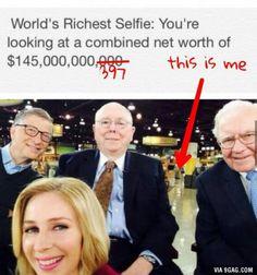 The world's richest selfie