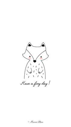 Fox illustration vector ©Marion Blanc