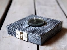 Loft!Eko świecznik ze starej deski - PiatyElement - Dodatki do domu