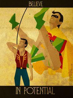 Inspirational hero posters.  Todos tenemos el potencial de hacer cosas sorprendentes...sabes cual es el tuyo?