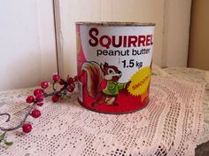 Shabby Chic Decor, Vintage Home Decor, Peanut Butter Brands, Planters Peanuts, Coffee Tin, Tea Tins, Roasted Peanuts, Rustic Kitchen, Squirrel