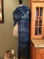 Ravelry: Easy Lace Stitch Prayer Shawl pattern by Louis Chicquette
