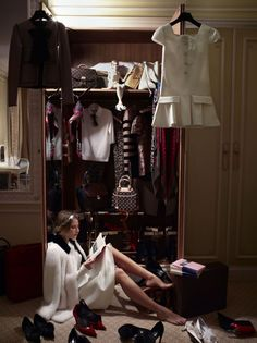 Dree Hemingway Hangs Out at the Hotel de Crillon in Paris | Photography by Koto Bolofo for Louis Vuitton Pre-Fall 2013 Lookbook