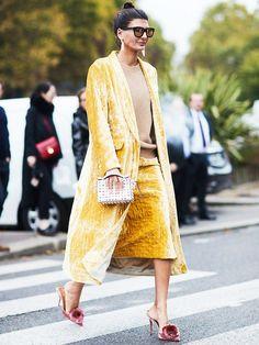 winter wedding outfits: velvet is always a good idea