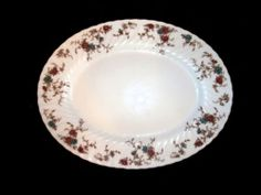 "VINTAGE MINTON ANCESTRAL BONE CHINA 15"" OVAL SERVING PLATTER w/ WREATH MARK EX! http://r.ebay.com/AcC4pS"
