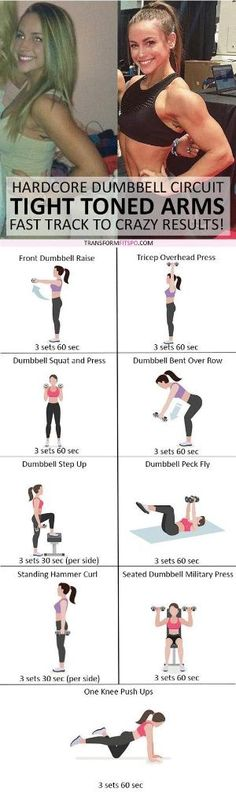 #womensworkout #workout #femalefitness Repin and share if this workout gave you tight toned arms! Click the pin for the full workout. by tracy sam