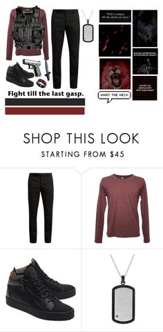 """""""I'm Just Doing My Job-Captain of the Guard!Archangel Michael"""" by tymartz1424 ❤ liked on Polyvore featuring Yves Saint Laurent, Altalana, Giuseppe Zanotti, Lord & Taylor, Vance Co., GET LOST, men's fashion and menswear"""