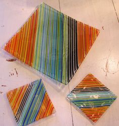 Fused glass plate set/ sushi plate by artontheside1011 on Etsy, $55.00
