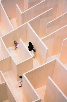 "Bjarke Ingels' ""BIG Maze"" at Washington's National Building Museum."