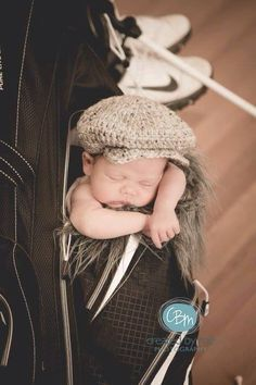 Crochet Baby Hat  Golf Hat  Drivers Cap  Irish by TrendyKidsByJen, $14.99