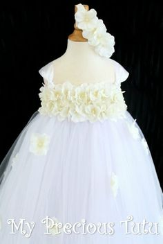Hydrangea Flower Girl Dress by My Precious Tutu by MyPreciousTutu, $90.00