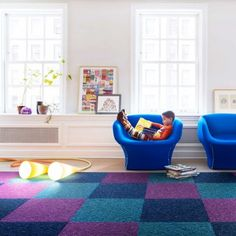 cute floor pattern for a playroom
