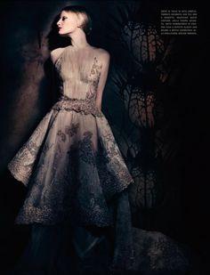 'Couture Allure' . Mariacarla Boscono, Guinevere Van Seenus And Malgosia Bela By Paolo Roversi For Vogue Italia 2013