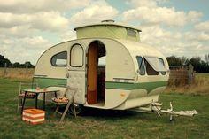 Vintage Wohnwagen - gesehen und gleich rein verliebt.
