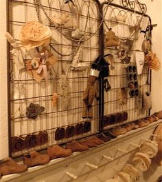 I want cool antique gates on the wall in my closet with camouflaged hooks for jewelry!