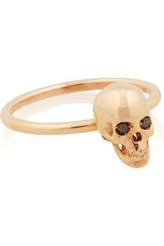 ILEANA MAKRI  Skull 18-karat rose gold and diamond ring — I would murder someone for this ring.