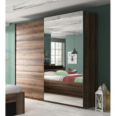 Where space is limited and appearance is essential, sliding door wardrobe is perfect solution for any room. Saving space on the outside of the wardrobe whilst c Gray Interior, Contemporary Interior, Interior Design, 3 Door Sliding Wardrobe, Sliding Doors, Programme Design, Bedroom Closet Design, Bedroom Storage, Hanging Rail