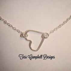Sterling silver hand soldered heart pendant by TessCampbellDesigns on Etsy