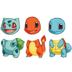 Mix and Match Magnets: Bulbasaur, Charmander, Squirtle (Pokemon Starter Set 1)