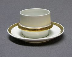 Arabia, Kultavanne, Göran Bäck Malta, Finland, Mid-century Modern, Barware, Retro Vintage, Porcelain, House Design, Dishes, Tableware