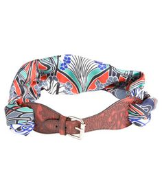 DIY this: liberty of london belt: the adjustable buckle has openings at either end allowing you to thread through the scarf of your choice to complete a unique belt, and one which is changeable depending on your outfit!