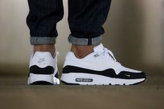 Nike Air Max 1 Extremely Important White/Black/Wolf Gray - Grey Sneakers, Best Sneakers, Nike Sneakers, Air Max Sneakers, Sneakers Fashion, Leather Sneakers, Air Max 1, Nike Air Max, Logo Nike