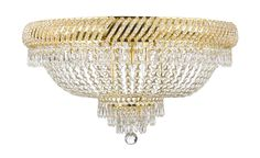 F93-FLUSH/CG/448/12SW Gallery Flush CHANDELIER TRIMMED WITH SPECTRA™ CRYSTAL – Reliable crystal quality by Swarovski®