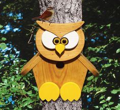 owl shaped  bird houses   owl birdhouse wood plan this friendly little owl would love to hang ...