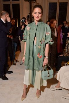 Olivia Palermo - Front Row at Valentino Haute Couture Spring Summer 2018 show - January 24, 2018