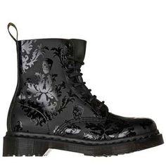 #shoes #black #punk #grunge #dr martens #printed #baroque