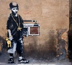Banksy Graffiti Art Design...
